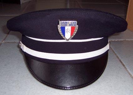 Bullion main brodé police française Pic Casquette Visière Chapeau directeur National